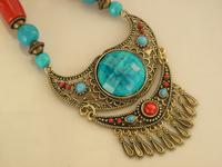 Fashion Style Tibetan Pendants Necklace  with Turquoise Pendants Sotck Wholesale Price
