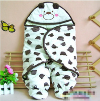 Autumn Winter Thickening Foot-binding Infant Baby Bear Hug Is Cartoon Baby Blanket Free Shipping