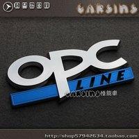 free shipping 2pcs Opel opel emblem labeling opc emblem three-dimensional labeling refit car stickers