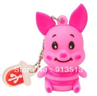 Wholesale sitting piglet usb flash drive disk memory 2GB 4GB 8GB accept mix order