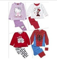 2013 NEW arrive children 2pcs clothing set girls and boys summer wear children clothing baby long sleeve pajamas,Baby Sleepwear