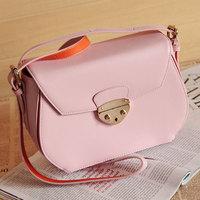 Spring candy color gentlewomen mini bag cowhide women's handbag laptop messenger bag