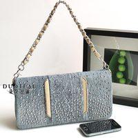 2013 women's handbag sparkling diamond bling small denim bag shoulder bag women's rhinestone messenger bag