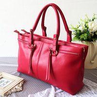 2013 bag cowhide women's handbag tassel rope one shoulder messenger handbag female bag