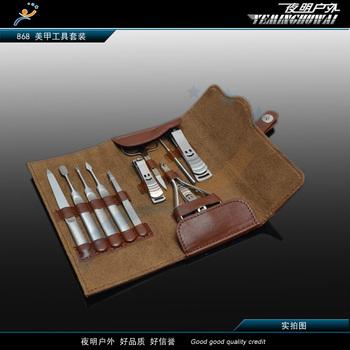 free shipping Professional nail art tool gift box set 11 piece set skin packaging finger plier 868