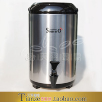 Stainless steel tea shihho insulation bucket double layer milk tea bucket 12l