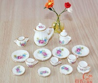 Free shipping !! A set of Handmade Porcelain Mini Tea charm pendant--03