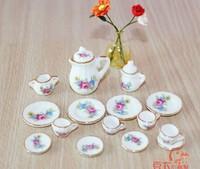 Free shipping !! A set of Handmade Porcelain Mini Tea charm pendant--03