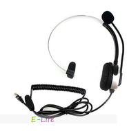 4-pin crystal head super Headset Telephone Monaural Fast delivery shipping free