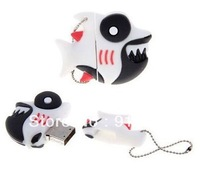 Wholesale dangerous fish shape usb flash drive memory 2GB 4GB 8GB free shipping