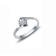 Free shipping Ring female crystal platinum zircon finger ring fashion marriage