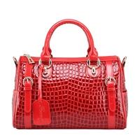 2012 women's handbag fashion crocodile pattern handbag cowhide BOSS women's bridal bag handbag