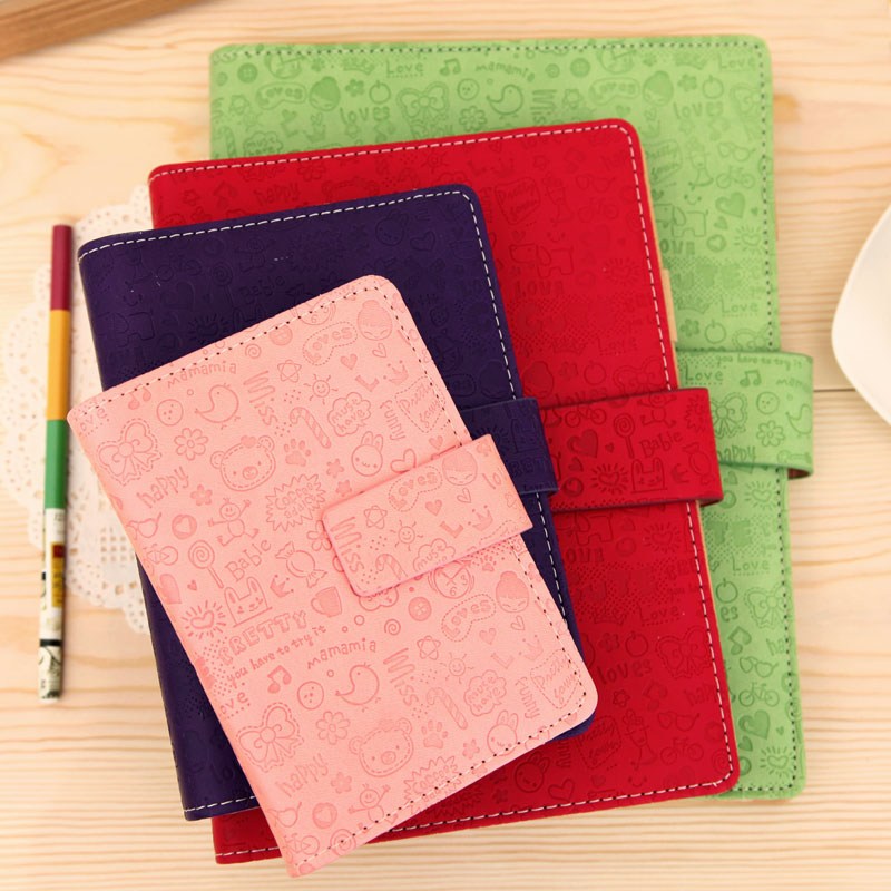 Free shipping business office school daily Cute simple fashion spiral paper organizer Agenda Planner Diaries Notebooks Journal(China (Mainland))