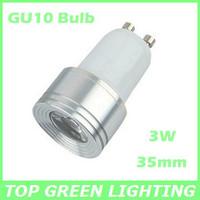 Free Shipping 2 x Small Diameter 35mm 3W Spot LED GU10 Bulb Light EU UK USA ES 110V 220V 230V Bombilla GU10 LED Lampara 3 Watt