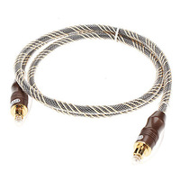 Toslink-Toslink Optical Digital Cable Grid Line(Coffee,OD6mm,1M)