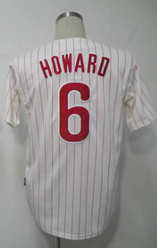 LikeHot SaleFree Shipping #6 Ryan Howard Men's Authentic Home White Cool Base Baseball Jersey(China (Mainland))