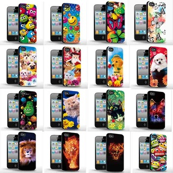 Three-Dimensional 3D cartoon animal Design Back Case Cover Skin Protector For iphone wholesale Dropshipping free shipping