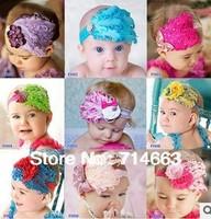 Cuter!!! New Fashion Hot Infant Baby Toddler Feather Flower Diamond Bow Headband Soft Headwear Hair Band