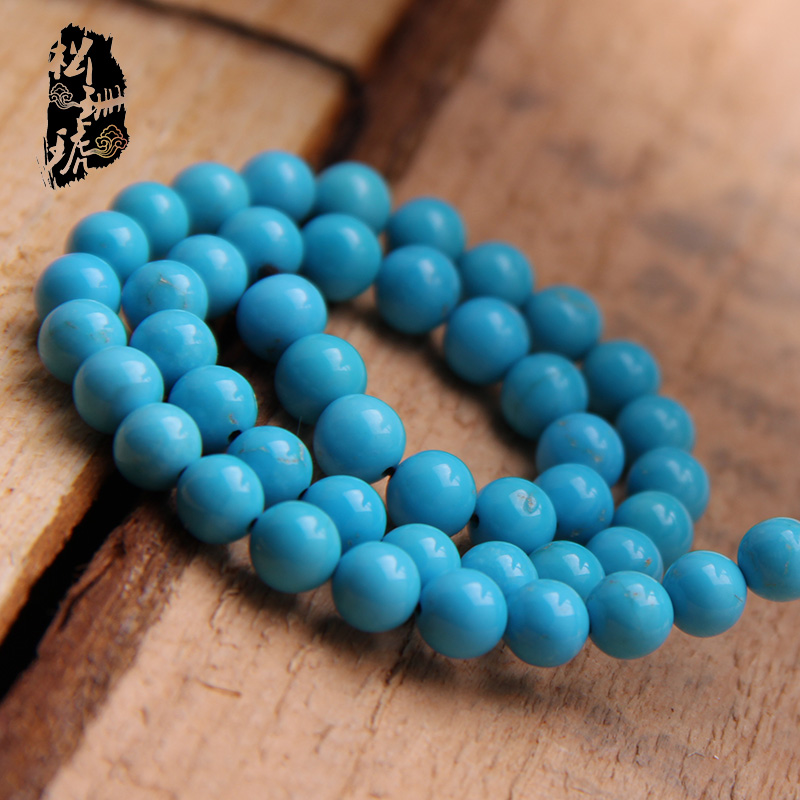 Top natural turquoise Sleeping Beauty beads porcelain blue pine beads diy accessories(China (Mainland))