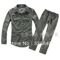 @  the windproof and waterproof hiking male women dress casual jacket +pants coat/outdoor sports