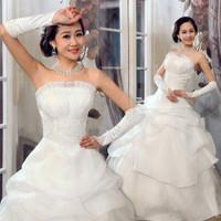 Princess bride wedding dress formal dress wedding dress classic shell tube top wedding qi
