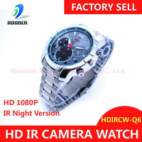 Wholesale Mini Camera Watch Full hd Camcorder Watch hd night HDIRCW-Q6 Free shipping by HK Post (with tracking number)
