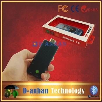 T31 fly air mouse+Original 2GB 8GB  RK3188 Quad Core TV Box Android 4.2 Mini PC Smart HDMI Stick Dongle Bluetooth