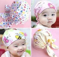 Baby hat baby turban pirate hat newborn turban cap tieclasps baby bandanas