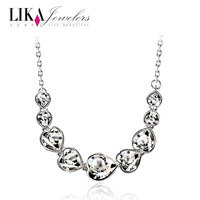 Lika accessories crystal necklace female fashion short design fashion crystal pendant chain