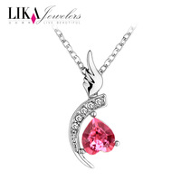 Lika austria crystal necklace female spring and summer accessories pendant short design chain birthday gift