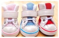 NEW! Pet Dog Sport Shoes Booties, PU+mesh, 4pcs/set, 3 colors, 5 sizes, Wholesale Free Shipping