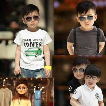 Big box child glasses female sunglasses male sunglasses large child baby sunglasses baby mirror