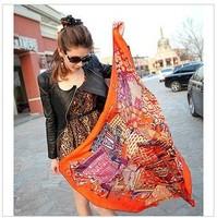 2012 Yi trip Jinyi Wei silk twill silk scarves and shawls scarf Ms.