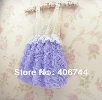 Girls dance  party dress,kids crochet  flower dress,children Bridesmaid  dress,AL2001-5