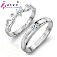 Free Shipping 2013 New Fashion Embalmed Austria Crystal Ring 925 Sterling Silver lovers Ring Scrub Jewelry Gift Korean Hot Sale