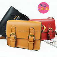 free shipping 2012 vintage leather bags fashion messenger bag cross-body women's shoulder bags