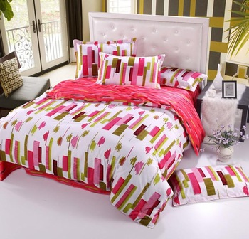 "2013 New 4Pcs 100% cotton Rural ""red"" bedding set quilt covers home accessories Free shipping A53"