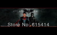 30 Justice League world's finest Superman&Batman 38''x24'' inch wall Poster with Track Num
