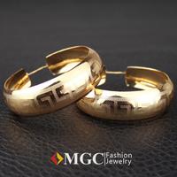 Vintage G Letter Hoop Earrings 18K Gold Plated Earrings Basketball Wives Fashion Jewelry For Women Jewellery Wholesale MGC E634