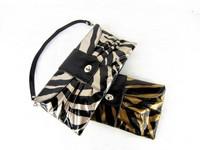 Kc fashion day clutch shoulder bag elegant leopard print zebra print clutch handbag