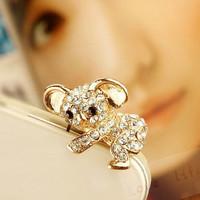 Crystal Cute Koala Plug For mobile phone dustproof plug dust plug - 1 pcs/Retail wholesale Free shipping B009