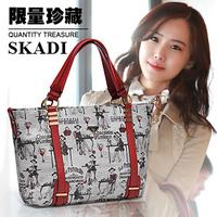 Skadi 2013 high quality spring and summer casual big shoulder bag messenger bag handbag women's