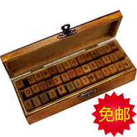 The appendtiff stationery vintage personality letter digital wooden gift box stamp inkpad diy STAMPS