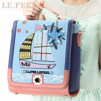 Lefeel2013 women's handbag vintage preppy style colorant match cutout portable