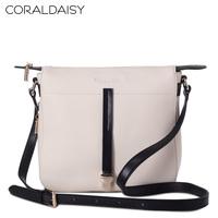 Women's handbag 2013 female fashion color block women's handbag white small cowhide cross-body bags