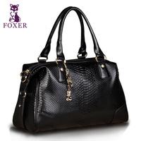 Wolsey 2013 cowhide handbag fashion serpentine pattern bag casual women's handbag messenger bag