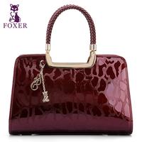 Wolsey 2013 quality cowhide handbag fashion women's bags embossed women's japanned leather handbag