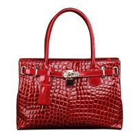 Wolsey 2013 cowhide handbag crocodile pattern lock bags fashion women's handbag