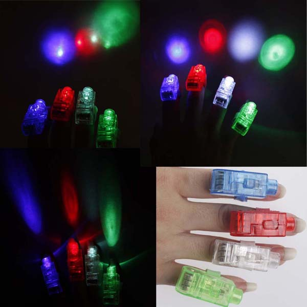 Min.order is $15(mix order)Free Shipping LED Finger Light,Laser Finger,Beams Ring Torch For Party Wedding simple package(China (Mainland))