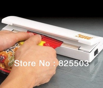 Free Shipping Reseal Save Portable Vacuum Sealer Saves Airtight Plastic Bag Preserve Food,4pcs/lot
